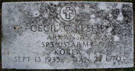 LESLIE (VETERAN KOR), CECIL C - Faulkner County, Arkansas | CECIL C LESLIE (VETERAN KOR) - Arkansas Gravestone Photos
