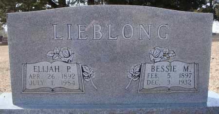 LIEBLONG, BESSIE M. - Faulkner County, Arkansas | BESSIE M. LIEBLONG - Arkansas Gravestone Photos