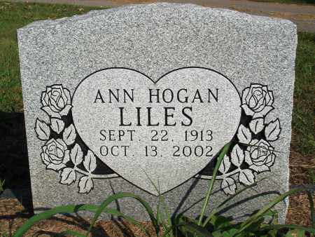 HOGAN LILES, ANN - Faulkner County, Arkansas | ANN HOGAN LILES - Arkansas Gravestone Photos