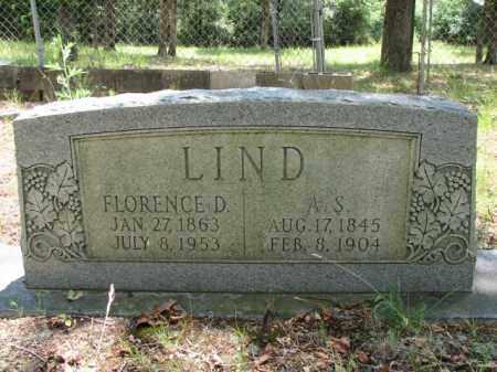 LIND, FLORENCE D. - Faulkner County, Arkansas | FLORENCE D. LIND - Arkansas Gravestone Photos
