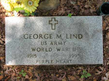 LIND  (VETERAN WWII), GEORGE - Faulkner County, Arkansas | GEORGE LIND  (VETERAN WWII) - Arkansas Gravestone Photos