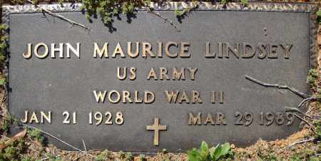 LINDSEY (VETERAN WWII), JOHN MAURICE - Faulkner County, Arkansas | JOHN MAURICE LINDSEY (VETERAN WWII) - Arkansas Gravestone Photos