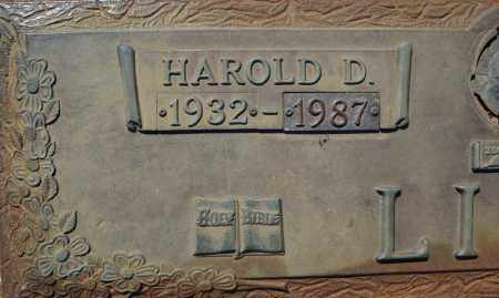 LINN, HAROLD D. (CLOSEUP) - Faulkner County, Arkansas | HAROLD D. (CLOSEUP) LINN - Arkansas Gravestone Photos