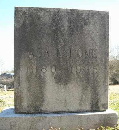 LONG, ASA L. - Faulkner County, Arkansas | ASA L. LONG - Arkansas Gravestone Photos