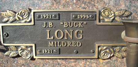 "LONG, J.B. ""BUCK"" - Faulkner County, Arkansas | J.B. ""BUCK"" LONG - Arkansas Gravestone Photos"