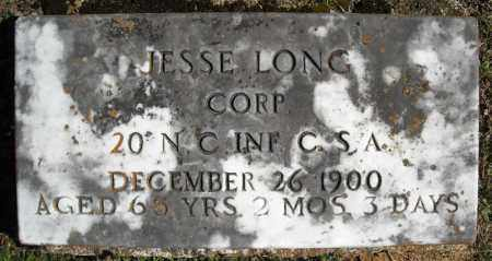 LONG (VETERAN CSA), JESSE - Faulkner County, Arkansas | JESSE LONG (VETERAN CSA) - Arkansas Gravestone Photos