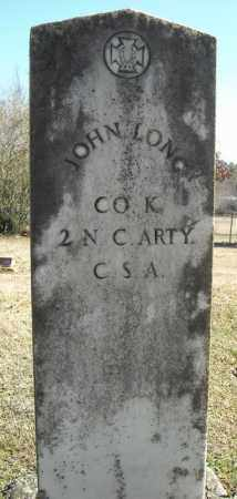 LONG (VETERAN CSA), JOHN - Faulkner County, Arkansas | JOHN LONG (VETERAN CSA) - Arkansas Gravestone Photos
