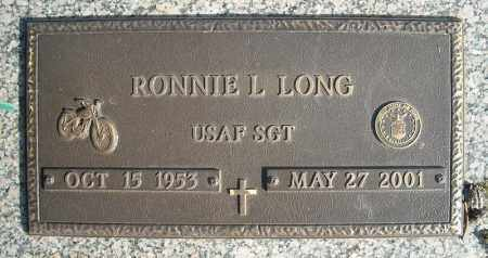 LONG (VETERAN), RONNIE L - Faulkner County, Arkansas | RONNIE L LONG (VETERAN) - Arkansas Gravestone Photos