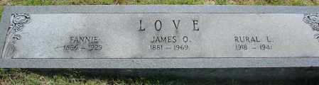 LOVE, JAMES O. - Faulkner County, Arkansas | JAMES O. LOVE - Arkansas Gravestone Photos