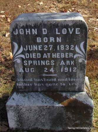 LOVE, JOHN D. (1) - Faulkner County, Arkansas | JOHN D. (1) LOVE - Arkansas Gravestone Photos