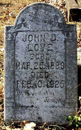 LOVE, JOHN D. (2) - Faulkner County, Arkansas | JOHN D. (2) LOVE - Arkansas Gravestone Photos