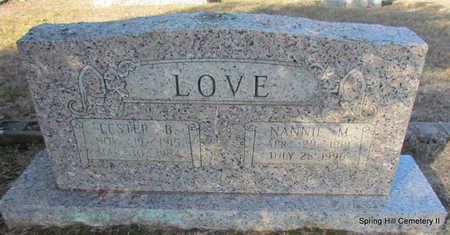 LOVE, NANNIE M. - Faulkner County, Arkansas | NANNIE M. LOVE - Arkansas Gravestone Photos