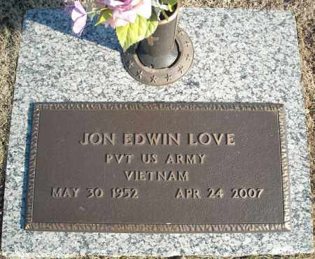 LOVE (VETERAN VIET), JON EDWIN - Faulkner County, Arkansas | JON EDWIN LOVE (VETERAN VIET) - Arkansas Gravestone Photos