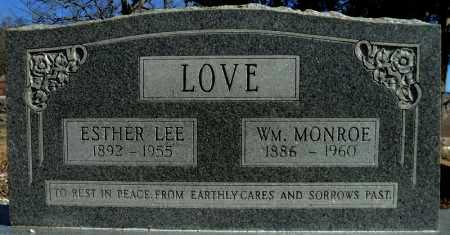 LOVE, WILLIAM MONROE - Faulkner County, Arkansas | WILLIAM MONROE LOVE - Arkansas Gravestone Photos