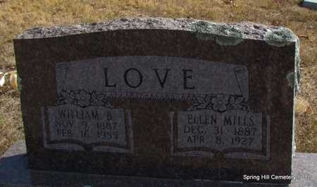 LOVE, WILLIAM B. - Faulkner County, Arkansas | WILLIAM B. LOVE - Arkansas Gravestone Photos