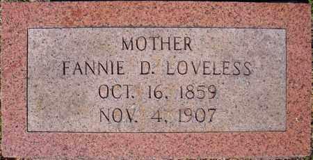 LOVELESS, FANNIE D. - Faulkner County, Arkansas | FANNIE D. LOVELESS - Arkansas Gravestone Photos