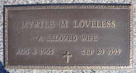 LOVELESS, MYRTLE M. - Faulkner County, Arkansas | MYRTLE M. LOVELESS - Arkansas Gravestone Photos