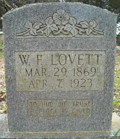 LOVETT, WILLIAM FRANK - Faulkner County, Arkansas   WILLIAM FRANK LOVETT - Arkansas Gravestone Photos
