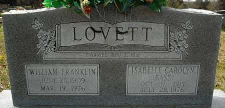 BASS LOVETT, ISABELLE CAROLYN - Faulkner County, Arkansas | ISABELLE CAROLYN BASS LOVETT - Arkansas Gravestone Photos