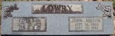 LOWRY, CORA ANN - Faulkner County, Arkansas | CORA ANN LOWRY - Arkansas Gravestone Photos