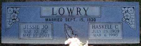LOWRY, HASKELL C. - Faulkner County, Arkansas | HASKELL C. LOWRY - Arkansas Gravestone Photos
