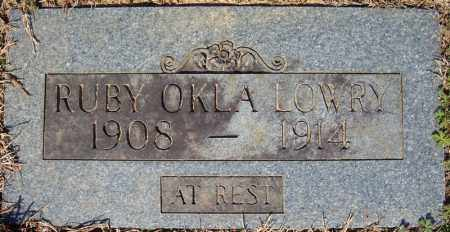 LOWRY, RUBY OKLA - Faulkner County, Arkansas | RUBY OKLA LOWRY - Arkansas Gravestone Photos