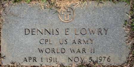 LOWRY (VETERAN WWII), DENNIS E - Faulkner County, Arkansas | DENNIS E LOWRY (VETERAN WWII) - Arkansas Gravestone Photos