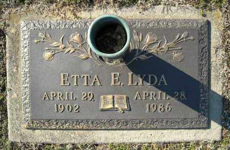 LYDA, ETTA E. - Faulkner County, Arkansas | ETTA E. LYDA - Arkansas Gravestone Photos