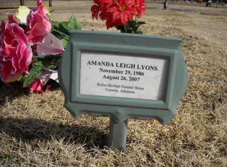 LYONS, AMANDA LEIGH - Faulkner County, Arkansas | AMANDA LEIGH LYONS - Arkansas Gravestone Photos