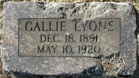 LYONS, GALLIE - Faulkner County, Arkansas | GALLIE LYONS - Arkansas Gravestone Photos