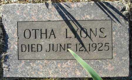 LYONS, OTHA - Faulkner County, Arkansas | OTHA LYONS - Arkansas Gravestone Photos
