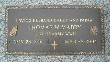 MABRY (VETERAN WWII), THOMAS W - Faulkner County, Arkansas | THOMAS W MABRY (VETERAN WWII) - Arkansas Gravestone Photos