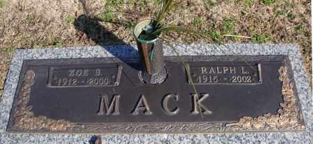 MACK, ZOE B. - Faulkner County, Arkansas | ZOE B. MACK - Arkansas Gravestone Photos