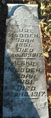 MADDEN, LUDE - Faulkner County, Arkansas | LUDE MADDEN - Arkansas Gravestone Photos
