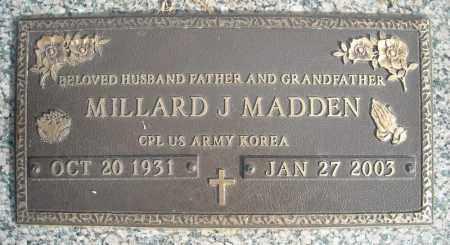 MADDEN (VETERAN KOR), MILLARD J - Faulkner County, Arkansas | MILLARD J MADDEN (VETERAN KOR) - Arkansas Gravestone Photos