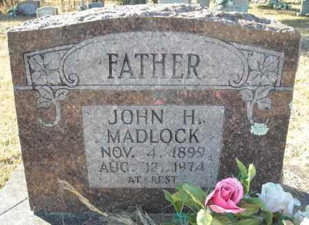MADLOCK, JOHN H. - Faulkner County, Arkansas | JOHN H. MADLOCK - Arkansas Gravestone Photos