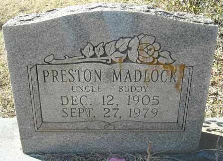 MADLOCK, PRESTON - Faulkner County, Arkansas | PRESTON MADLOCK - Arkansas Gravestone Photos