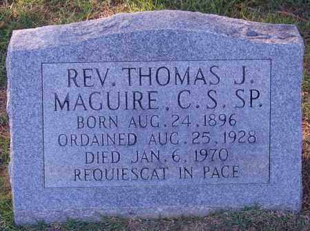 MAGUIRE REV C S SP, THOMAS J - Faulkner County, Arkansas | THOMAS J MAGUIRE REV C S SP - Arkansas Gravestone Photos