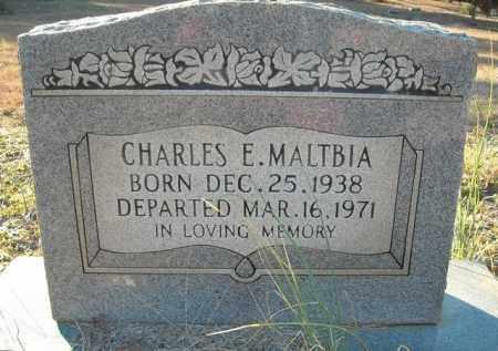 MALTBIA, CHARLES E. - Faulkner County, Arkansas | CHARLES E. MALTBIA - Arkansas Gravestone Photos