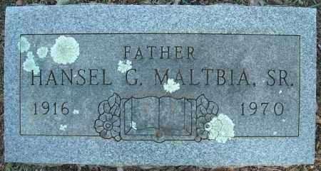 MALTBIA, SR., HANSEL G. - Faulkner County, Arkansas | HANSEL G. MALTBIA, SR. - Arkansas Gravestone Photos