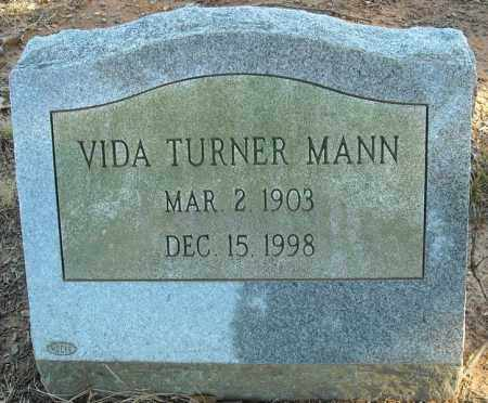 TURNER MANN, VIDA - Faulkner County, Arkansas | VIDA TURNER MANN - Arkansas Gravestone Photos