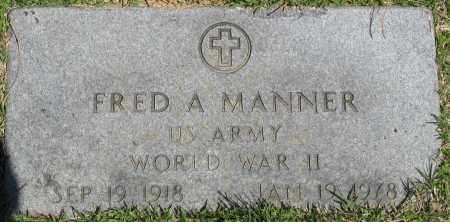 MANNER (VETERAN WWII), FRED A - Faulkner County, Arkansas | FRED A MANNER (VETERAN WWII) - Arkansas Gravestone Photos