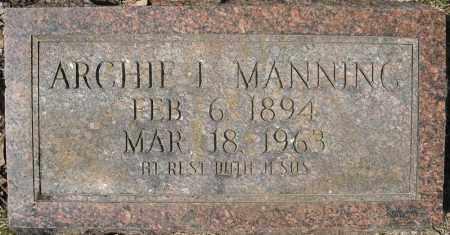 MANNING, ARCHIE L. - Faulkner County, Arkansas | ARCHIE L. MANNING - Arkansas Gravestone Photos