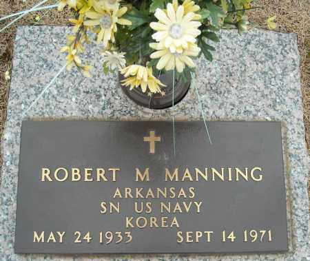 MANNING (VETERAN KOR), ROBERT M - Faulkner County, Arkansas | ROBERT M MANNING (VETERAN KOR) - Arkansas Gravestone Photos