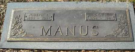 MANUS, JOSEPH EDGAR - Faulkner County, Arkansas | JOSEPH EDGAR MANUS - Arkansas Gravestone Photos
