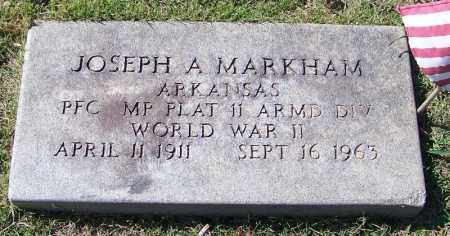 MARKHAM (VETERAN WWII), JOSEPH A - Faulkner County, Arkansas | JOSEPH A MARKHAM (VETERAN WWII) - Arkansas Gravestone Photos