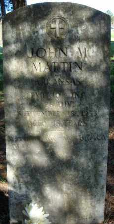 MARTIN (VETERAN), JOHN M - Faulkner County, Arkansas | JOHN M MARTIN (VETERAN) - Arkansas Gravestone Photos