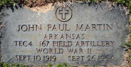 MARTIN (VETERAN WWII), JOHN PAUL - Faulkner County, Arkansas | JOHN PAUL MARTIN (VETERAN WWII) - Arkansas Gravestone Photos