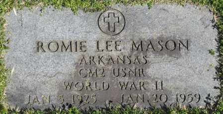 MASON (VETERAN WWII), ROMIE LEE - Faulkner County, Arkansas | ROMIE LEE MASON (VETERAN WWII) - Arkansas Gravestone Photos