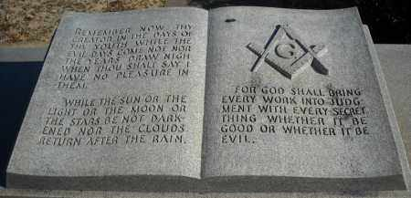 *FREEMASON MONUMENT INSCRIPTIO,  - Faulkner County, Arkansas |  *FREEMASON MONUMENT INSCRIPTIO - Arkansas Gravestone Photos